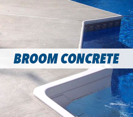 Broom Concrete Swimming Pool Decking