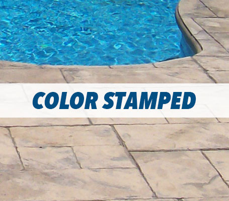 Color Stamped Concrete Swimming Pool Decking