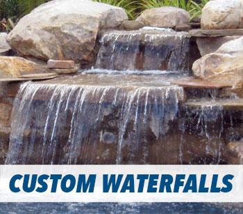 Swimming Pool Custom Waterfall