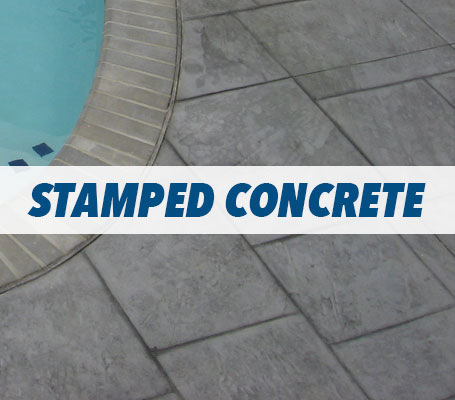 Stamped Concrete Swimming Pool Decking