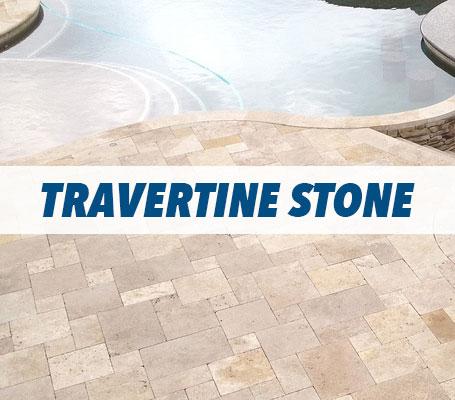 Travertine Stone Swimming Pool Decking